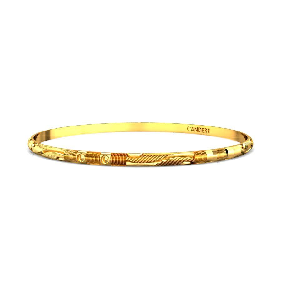 band ladies slave solid bracelet bangle bead flat collection edge gold image bangles yellow