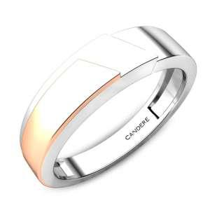 Tom Platinum And Rose Gold Band for Him