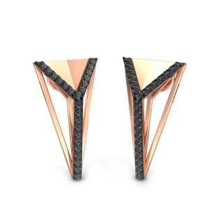 Thrifty Triangles Onyx Earrings