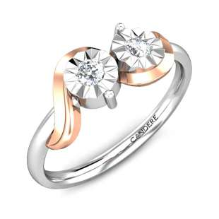 Couple Miracle Plate Diamond Ring