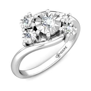 Five Stone Cluster Miracle Plate Diamond Ring