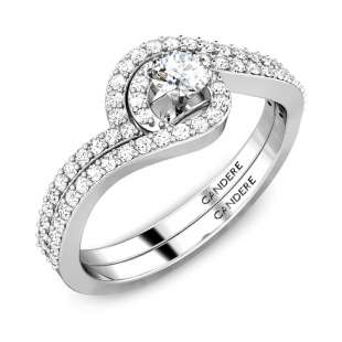 Waves Diamond Stackable Solitaire Engagement Ring