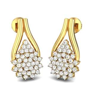 Snow White Diamond Earrings